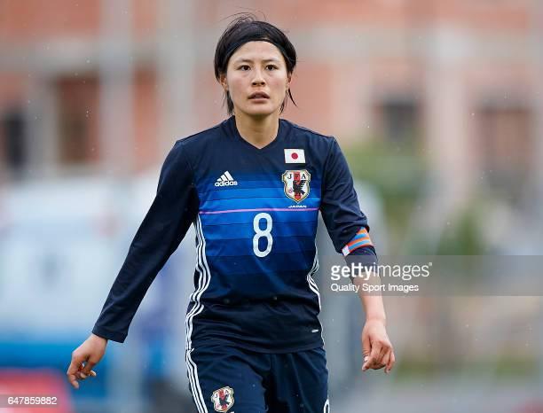 Hikaru Naomoto of Japan looks on during the international friendly match between Japan Women U23 and Norway Women U23 at La Manga Club on March 4...