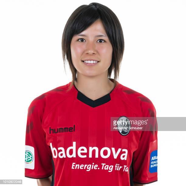 Hikaru Naomoto of SC Freiburg poses during the SC Freiburg Women's team presentation on August 1 2018 in Freiburg im Breisgau Germany