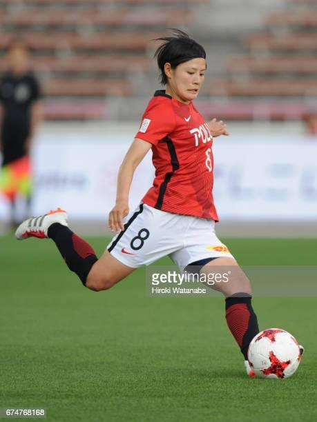 Hikaru Naomoto of Urawa Red Diamonds Ladies in action during the Nadeshiko League match between Urawa Red Diamonds Ladies and Mynavi Vegalta Sendai...