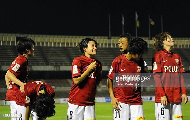 Hikaru Naomoto of Uwara Reds Ladies sheds tears after the 01 defeat in the Nadeshiko League match between Urawa Red Diamonds Ladies and INAC Kobe...