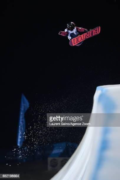 Hikaru Oe of Japan competes during the FIS Freestyle Ski Snowboard World Championships Halfpipe on March 11 2017 in Sierra Nevada Spain