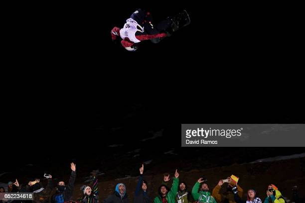 Hikaru Oe of Japan competes during the Women's Snowboard Halfpipe Final on day four of the FIS Freestyle Ski and Snowboard World Championships 2017...