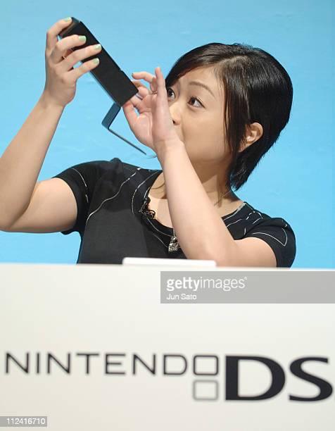 Hikaru Utada during Nintendo TETRIS DS Game Match - Hikaru Utada Vs. 30 Challengers at Tokyo International Forum in Tokyo, Japan.