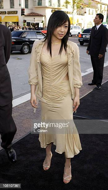 Hikaru Utada during 'The Matrix Reloaded' Premiere Black Carpet at Mann Village Theater in Westwood California United States