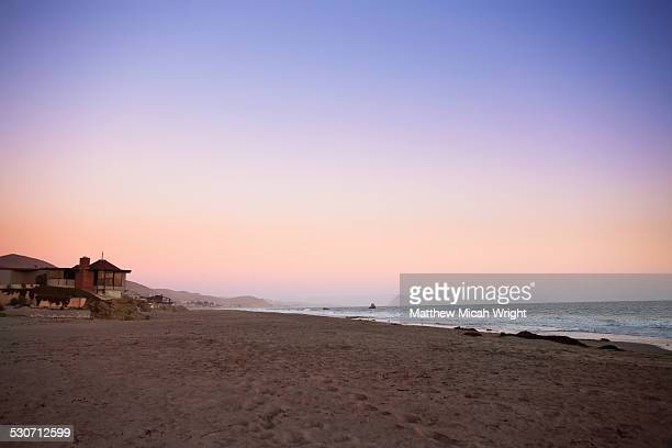 a hike along the beach at cayucos - cayucos stock pictures, royalty-free photos & images