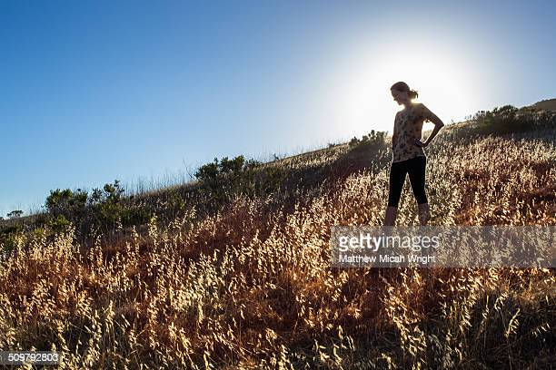 a hike along the coastal bluffs of cayucos. - cayucos stock pictures, royalty-free photos & images