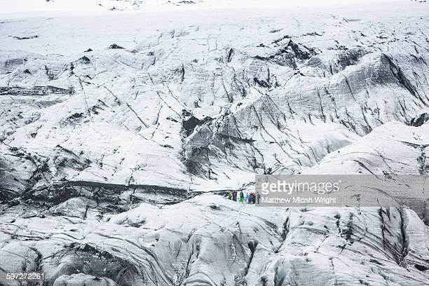 A hike on the Solheimajokull glacier.