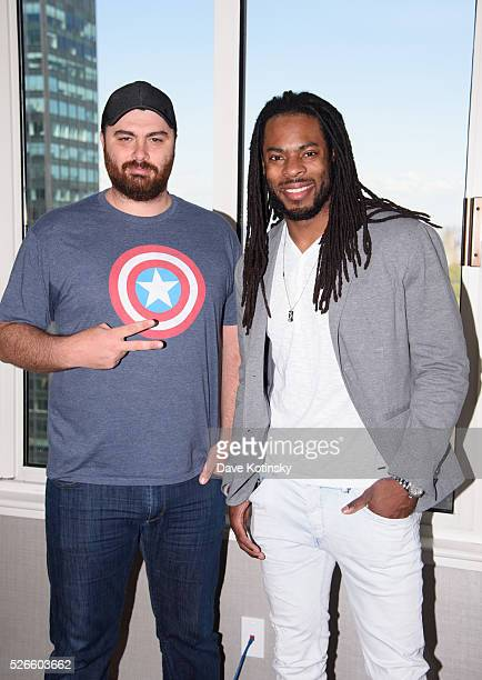 Hike the Gamer and Seattle Seahawks Richard Sherman attend the Challenge in Call of Duty Black Ops 3 on April 30 2016 in New York City