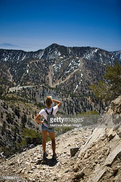 Hike up to Mount Baldy in the San Gabriel Mountains.