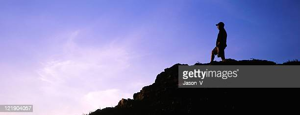 Hiker at top of Mountain