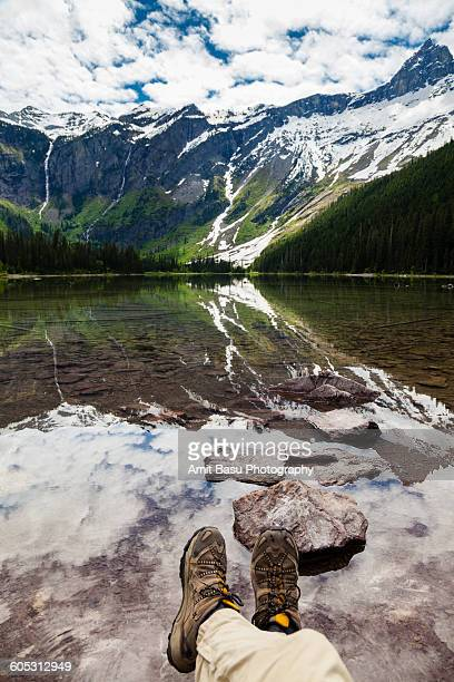 Hiker boots, Avalanche lake, Glacier National Park