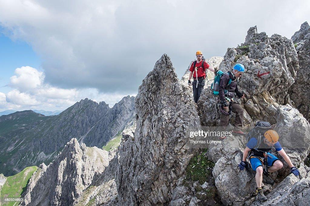 Klettersteig Oberstdorf : Klettersteig hindelanger tour