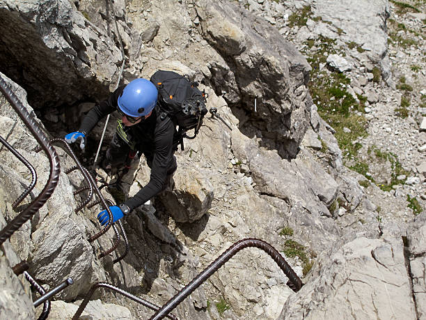 Klettersteig Germany : Mindelheim ascent popular with mountain climbers photos and images