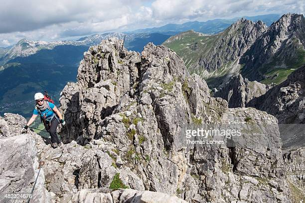 Klettersteig Oberstdorf : Mindelheimer klettersteig stock fotos und bilder getty images