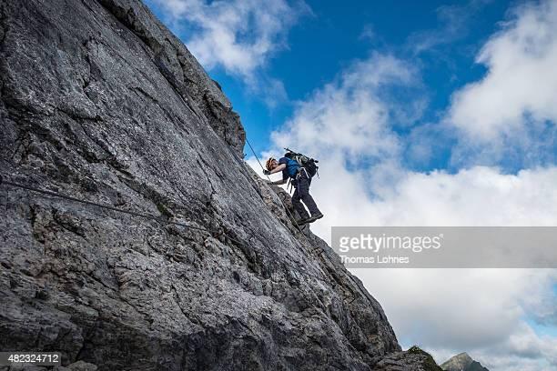 Klettersteig Germany : Mindelheimer klettersteig stock fotos und bilder getty images