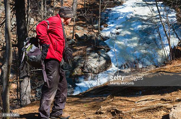 Hiker considering options before proceeding