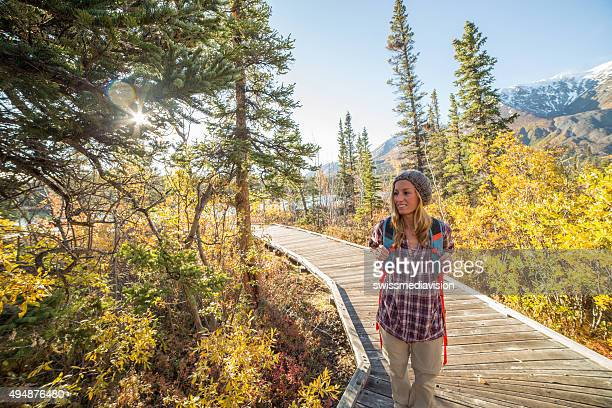 Hiker enjoying nature in Canada