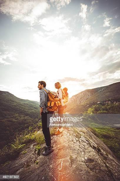 Für Wanderer Familie