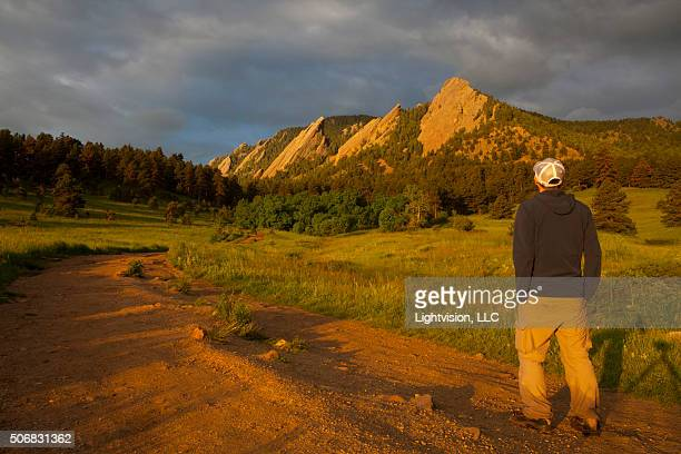 Hiker in Chautauqua Park - Boulder, Colorado