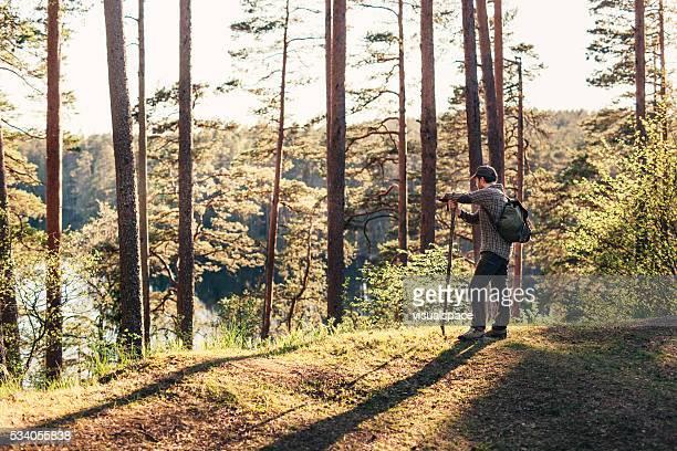 Hiker Looking At Beautiful View