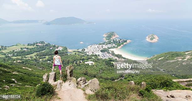 Hiker on Dragon's Back Trail, Hong Kong