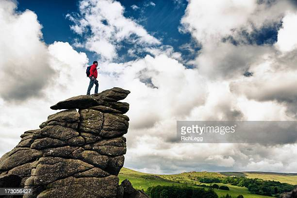 Hiker on top of a Rock