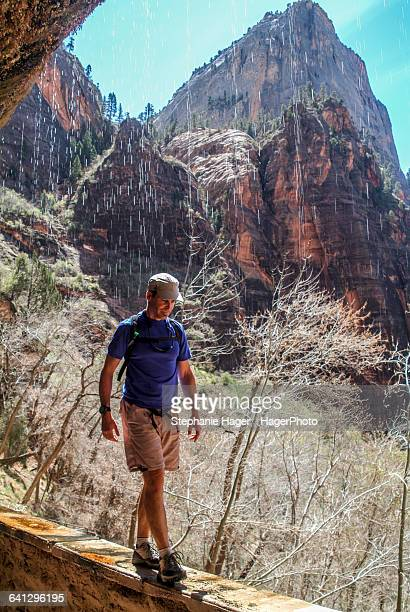 Hiker on trail