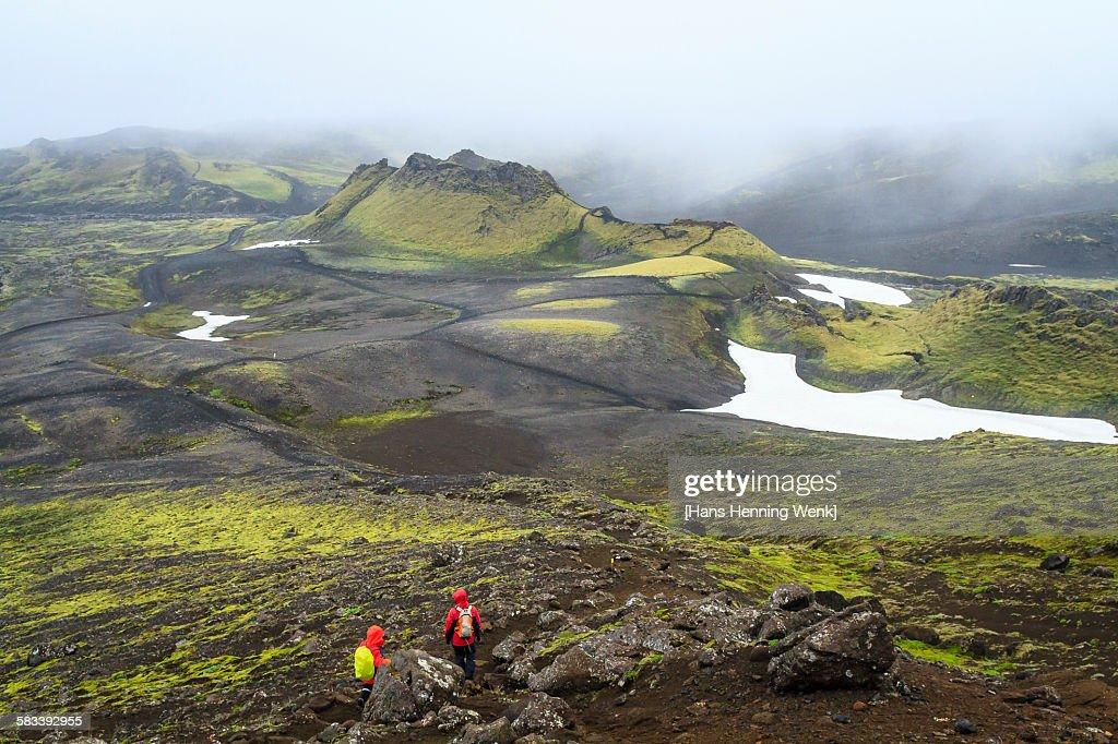 Hikers at Lakagigar : Stock Photo