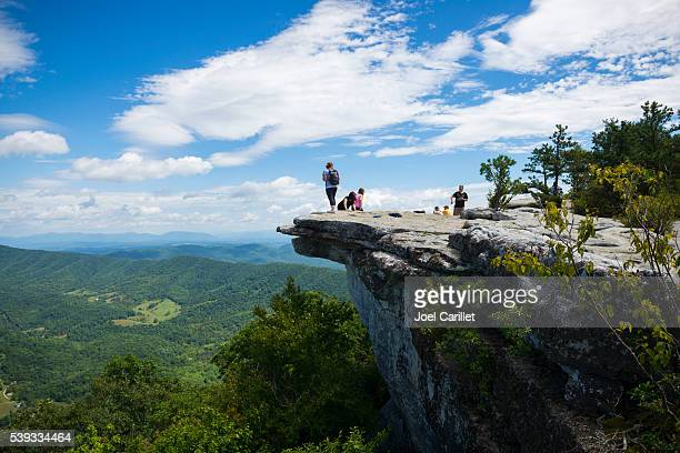 Hikers at McAfee Knob on Appalachian Trail in Virginia