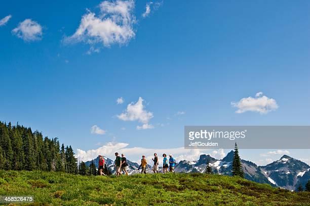 Hikers at Mount Rainier