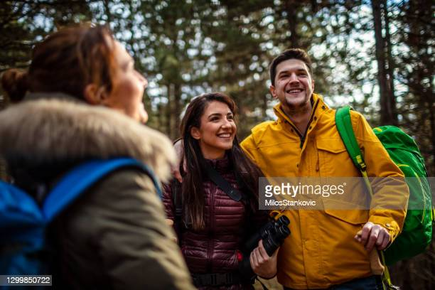 hikers at mountain - nature reserve stock pictures, royalty-free photos & images