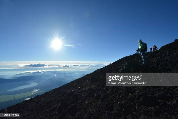 Hikers at Mt Fuji