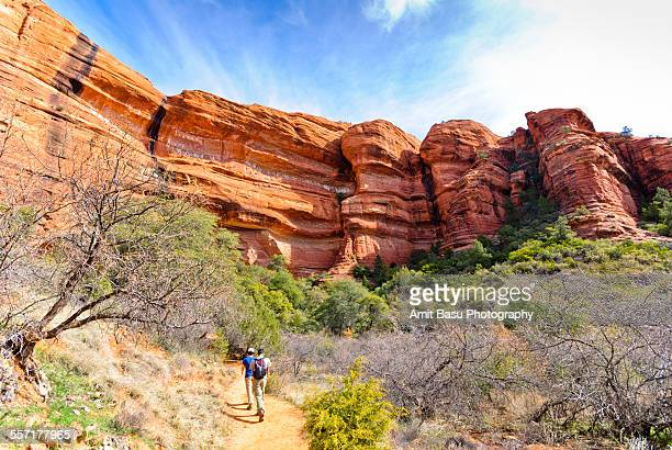 Hikers at Palatki Ruins, Sedona, Arizona