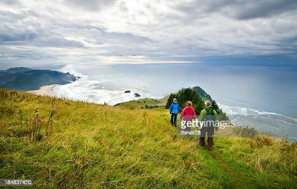 Hikers at the Coast