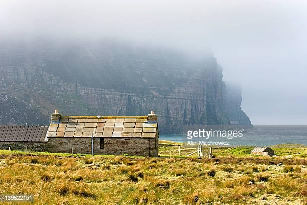 Hikers bothy at Rackwick, Isle of Hoy, Orkney Islands, Scotland, UK