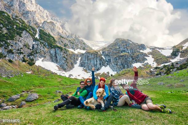 hikers enjoying time together - romania stock pictures, royalty-free photos & images