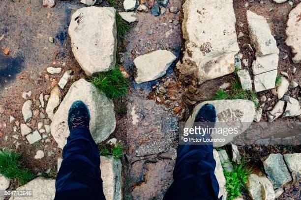 Hikers feet.