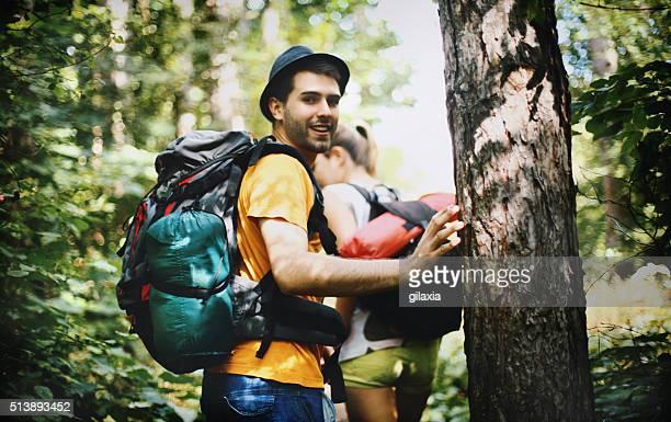 森林のハイキングをします。