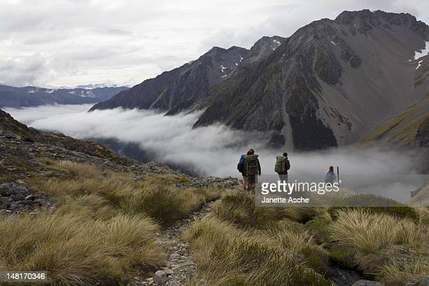 Hikers in valley