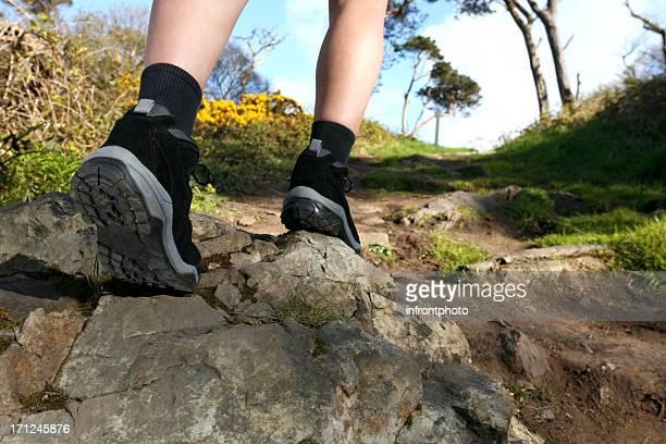 Hiker's Legs on a trail