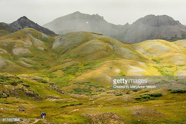 Hikers on Continental Divide Trail during a storm