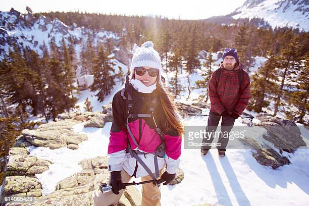 hikers on mountain peak - cliqueimages stock pictures, royalty-free photos & images