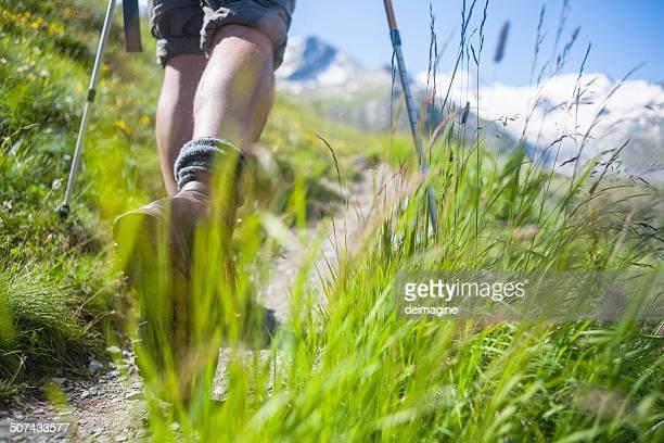 Wanderer auf Berg trail