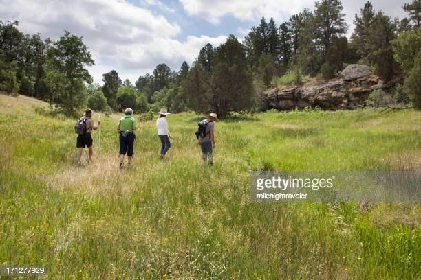 Hikers on Prairie Canyon Ranch Open Space Day