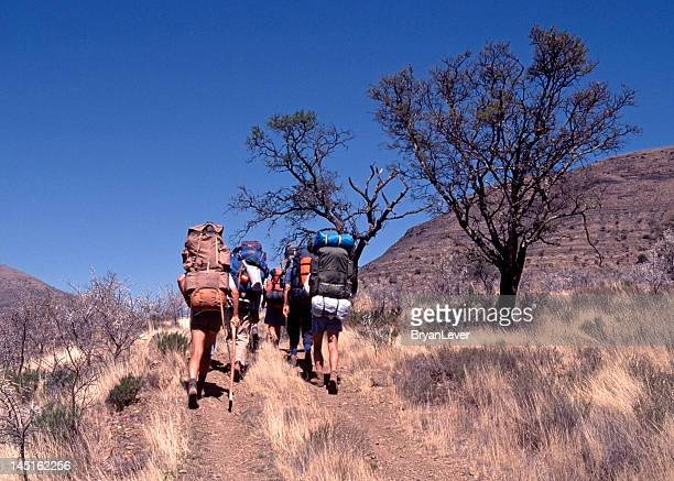 hikers on the trail - the karoo stock pictures, royalty-free photos & images