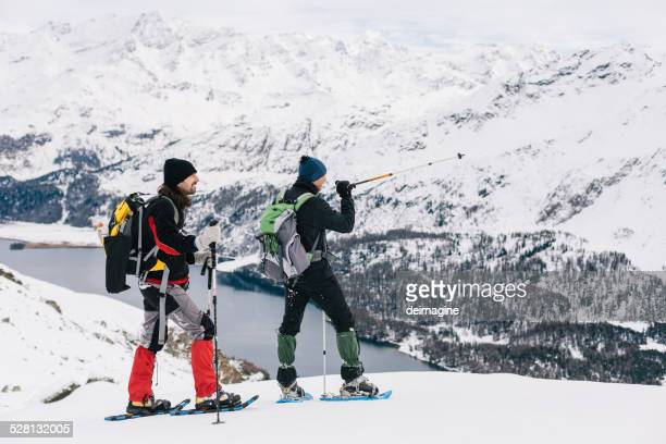 hikers - swiss alps stock pictures, royalty-free photos & images