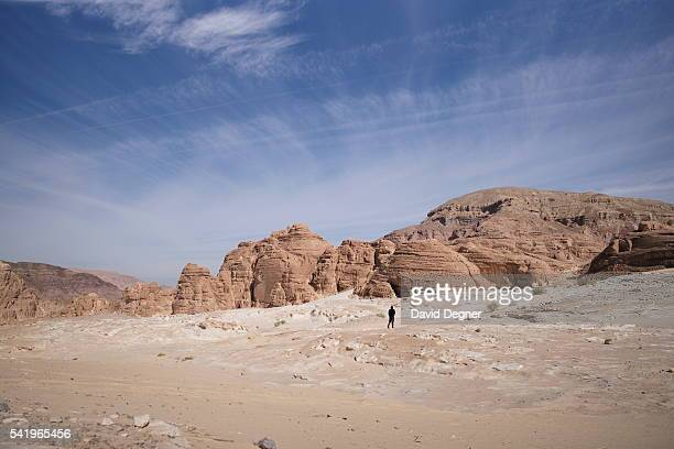 "November 20: Hikers walk through southern Sinai as part of the ""Sinai Is Safe"" campaign to promote tourism on November 20, 2015 in Sinai, Egypt. ."