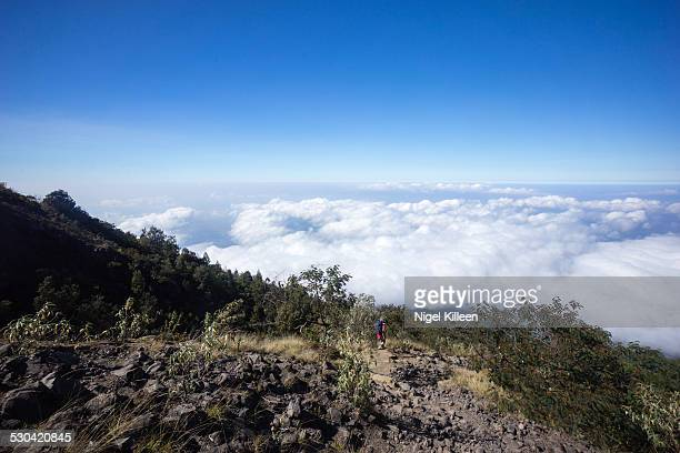 Hiking above the clouds, Mt Agung, Bali