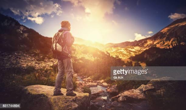 Allein Wandern in den Bergen