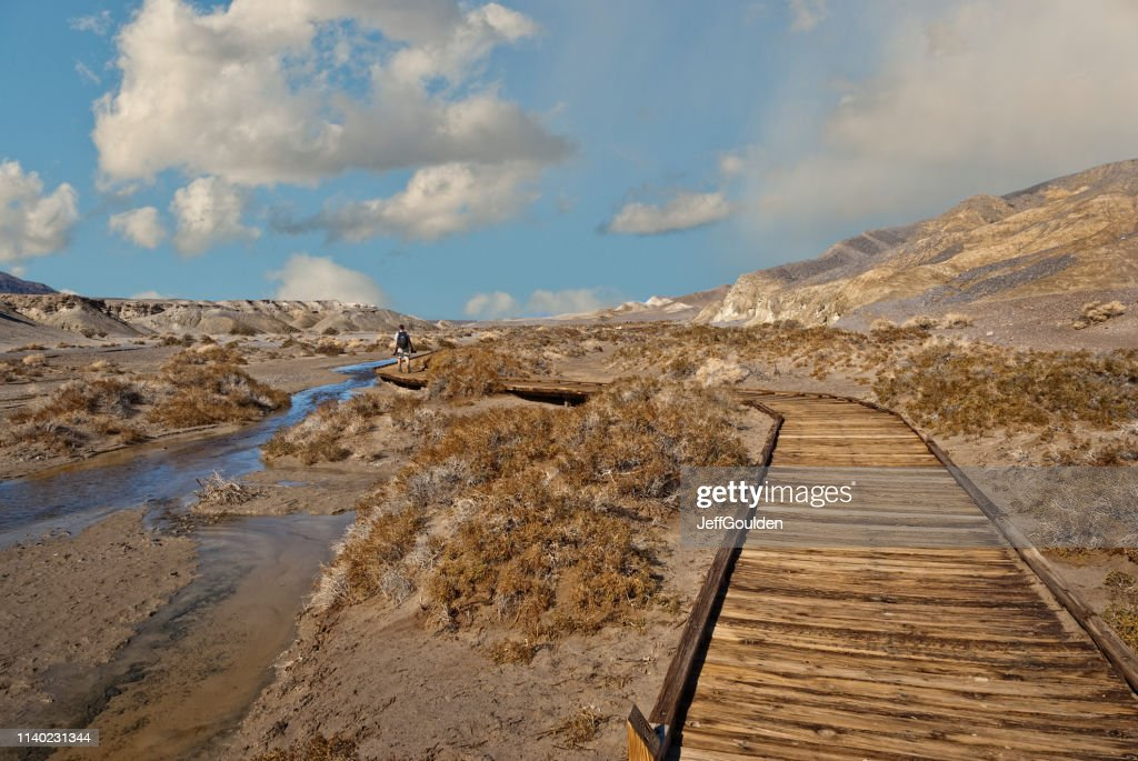 Hiking Along the Salt Creek Boardwalk : Stock Photo